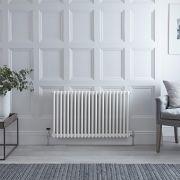 Radiador de Diseño Horizontal Doble Tradicional - Blanco - 600mm x 1010mm x 68mm - 1249 Vatios - Regent