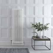 Radiador de Diseño Vertical Triple Tradicional - Blanco - 1500mm x 473mm x 100mm - 1734 Vatios - Regent