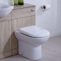 Mueble de Baño de MDF Color Roble Completo con Inodoro Integrado 76x50x30cm