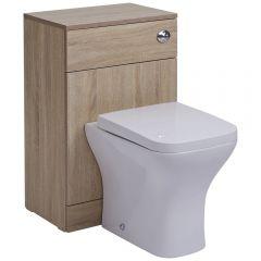Mueble Moderno para Cuarto de Baño con Inodoro Integrado 76x50x36cm