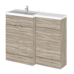 Mueble de Lavabo y WC Wengué de 1100mm Versión Izquierda