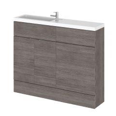Mueble de Lavabo y WC Gris Marrón de 1100mm