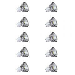 Biard 10x focos LED COB GU10 5W con Angulo de 90° Equivalente a 50W