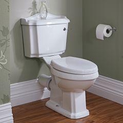 Pack de WC Completo con Inodoro Cisterna con Salida Horizontal y Tapa Clásico
