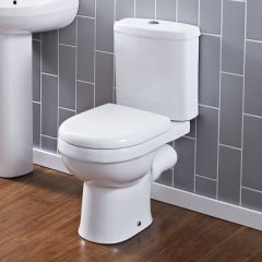 Pack de WC Completo con Inodoro Cisterna con Salida Horizontal  Moderno con Tapa
