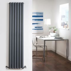 Radiador de Diseño Vertical Doble - Antracita - 1780mm x 354mm x 78mm - 1401 Vatios - Revive