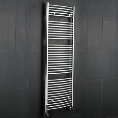 Radiador Toallero Curvo - Cromado - 1800mm x 600mm x 52mm - 827 Vatios - Sterling