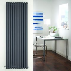 Radiador de Diseño Vertical Doble - Antracita - 1780mm x 590mm x 78mm - 2335 Vatios - Revive