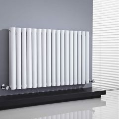 Radiador de Diseño Horizontal Doble - Blanco - 635mm x 1000mm x 78mm - 1583 Vatios - Revive