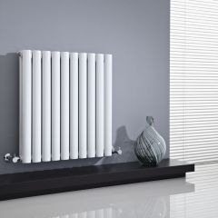 Radiador de Diseño Horizontal Doble - Blanco - 635mm x 595mm x 78mm - 931 Vatios - Revive