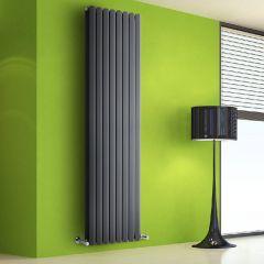 Radiador de Diseño Vertical Doble - Antracita - 1780mm x 560mm x 86mm - 2158 Vatios - Rombo