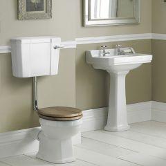 Conjunto de Baño Completo con Inodoro WC con Tapa Cisterna y Lavabo de 560mm - Retro