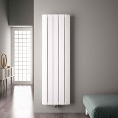 Radiador de Diseño Vertical Con Conexión Central - Aluminio - Blanco - 1800mm x 470mm x 45mm - 1919 Vatios - Aurora