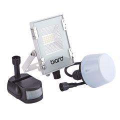 Foco Proyector Plano Blanco 10W con Opción entre Sensor PIR o Sensor Crepuscular