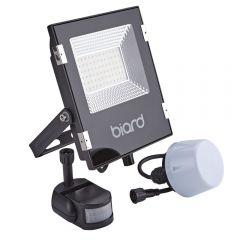 Foco Proyector Plano Negro 30W con Opción entre Sensor PIR o Sensor Crepuscular