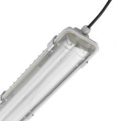 Regleta LED IP65 665 x 118 x 83mm con 2 Tubos LED 36W