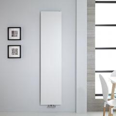 Radiador de Diseño Vertical - Panel Plano - Conexión Central - Blanco - 1800mm x 400mm - 842 Vatios - Rubi