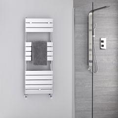 Radiador Toallero -Paneles Planos - Cromado - 1213mm x 450mm  - 374 Vatios- Lustro
