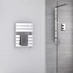 Radiador Toallero Eléctrico Plano - Cromado - 620mm x 455mm - Lustro