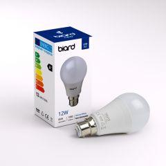 Biard Conjunto con 6 Bombillas LED B22 de 12W con Intensidad Luminosa No Regulable 60x119mm