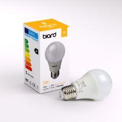 Biard Conjunto de 6 Bombillas LED E27 de 5W con Intensidad Luminosa Regulable