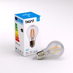 Biard Conjunto con 6 Bombillas LED E27 4W con Filamentos e Intensidad Luminosa Regulable
