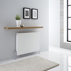 Radiador Convector Horizontal con Panel Doble Plus - Blanco - 600mm x 800mm x 72,5mm - 1316 Vatios - Type 21
