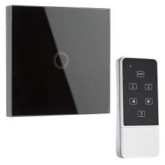 Biard Interruptor de Diseño de Pared Negro con Mando de Control con Sección Posterior Redonda