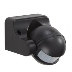 Sensor PIR Ajustable Negro de 180° - Powermaster