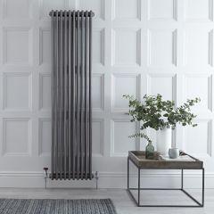 Radiador de Diseño Vertical Triple Tradicional – Acero Dulce - Lacado Metal Rudo - 1800mm x 473mm - 1948 Vatios - Regent