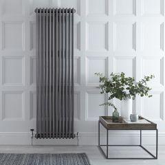Radiador de Diseño Vertical Triple Tradicional - Acero Dulce - Lacado Metal Rudo - 1800mm x 563mm - 2338 Vatios - Regent