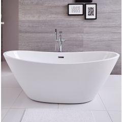 Bañera Exenta Oval Blanca 1570 x 785 x 670mm - Ashbury