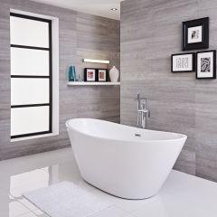 Bañera Exenta Oval Blanca 1700 x 785 x 670mm - Ashbury