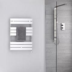 Radiador Toallero Eléctrico Plano - Cromado - 840mm x 600mm - Lustro