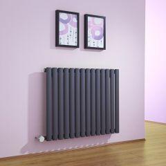Radiador de Diseño Eléctrico Horizontal - Antracita - 635mm x 834mm x 56mm -  Elemento Termostático de 1000W  - Revive
