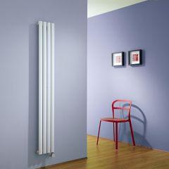 Radiador de Diseño Eléctrico Vertical - Blanco - 1600mm x 236mm x 56mm -  Elemento Termostático de 800W  - Revive