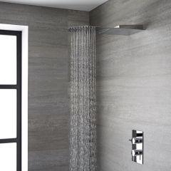 Alcachofa de Ducha Ultraplana de 2 Funciones Efecto Lluvia y Cascaca de Acero Inoxidable - Trenton