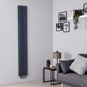 Radiador de Diseño Vertical - Aluminio - Antracita - 1800mm x 245mm - 652 Vatios - Aloa