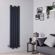 Radiador de Diseño Vertical - Aluminio - Antracita - 1600mm x 390mm - 1035 Vatios - Laeto