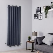 Radiador de Diseño Vertical - Aluminio - Antracita - 1600mm x 550mm - 1449 Vatios - Laeto