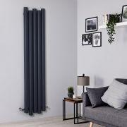 Radiador de Diseño Vertical - Aluminio - Antracita - 1800mm x 390mm - 1170 Vatios - Laeto