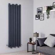 Radiador de Diseño Vertical - Aluminio - Antracita - 1800mm x 550mm - 1638 Vatios – Laeto