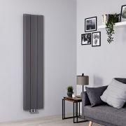 Radiador de Diseño Vertical - Aluminio - Gris Claro - 1600mm x 370mm - 869 Vatios - Aloa