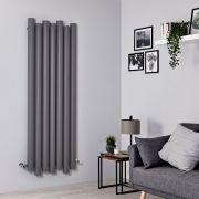 Radiador de Diseño Vertical - Aluminio – Gris Claro - 1600mm x 550mm - 1617 Vatios - Laeto