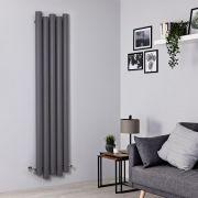 Radiador de Diseño Vertical - Aluminio - Gris Claro - 1800mm x 390mm - 1170 Vatios - Laeto
