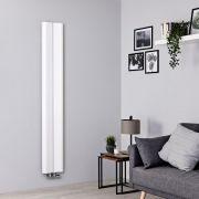 Radiador de Diseño Vertical - Aluminio - Blanco - 1600mm x 245mm - 579 Vatios - Aloa