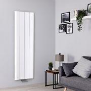 Radiador de Diseño Vertical - Aluminio - Blanco - 1600mm x 495mm - 1068 Vatios - Aloa