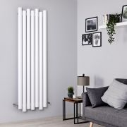 Radiador de Diseño Vertical - Aluminio - Blanco - 1800mm x 550mm - 1638 Vatios - Laeto