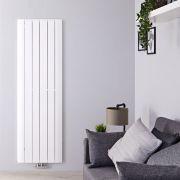 Radiador de Diseño Vertical Con Conexión Central - Aluminio - Blanco - 1800mm x 565mm x 46mm - 2303 Vatios - Aurora