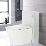 Kit para Inodoro Adosado Blanco de 500mm Completo con Inodoro WC Japonés Inodoro-Bidé Inteligente - Saru